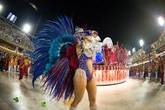 Carnival 2019 - Estacio de Sa. Rio, Brazil - march 02, 2019: Estacio de Sa during the Carnival Samba School Carnival RJ. Highlight floor janeiro parade dancer stock photo