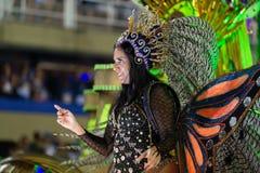 Carnival 2019 - Estacio de Sa. Rio, Brazil - march 02, 2019: Estacio de Sa during the Carnival Samba School Carnival RJ janeiro parade dancer costume brazilian royalty free stock photos