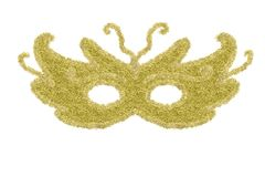 Carnival eye mask isolated. Royalty Free Stock Photos