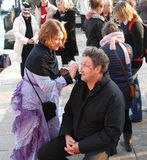 Carnival Face Painting, Venice, Italy Royalty Free Stock Images
