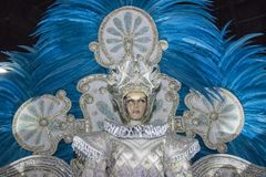 Carnival fantasy of the samba schools stock photography