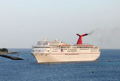 Carnival Fascination loses power while at sea Stock Photos