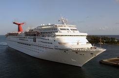 Carnival Fascination at the port of Nassau Stock Photos