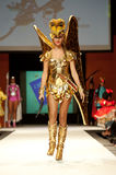 Carnival Fashion Week. CANARY ISLANDS - 29 OCTOBER: Model on the catwalk wearing carnival costume from designer Mari Patron Dominguez during Carnival Fashion Stock Photo