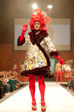 Carnival Fashion Week. CANARY ISLANDS - 29 OCTOBER: Model on the catwalk wearing carnival costume from designer Alberto Perez during Carnival Fashion Week Stock Image