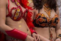 carnival female costume dancer Royalty Free Stock Photo