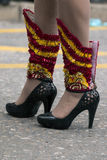 carnival female shoes Royalty Free Stock Photography