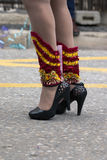 carnival female shoes Royalty Free Stock Images