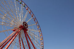 Carnival Ferris Wheel with Clean Skies with Empty Space Close up shot of half of a ferris wheel Royalty Free Stock Photo