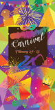 Carnival. Festival, Masquerade Music poster, invitation poster design. Vector illustration. Funfair, parade funny flyer, placard, tickets, banners, template Stock Photos