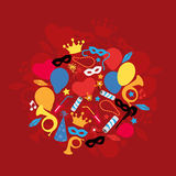 Carnival, Festival, Party, Birthday Decoration, Vector Stock Image