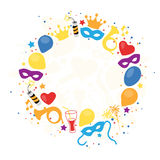 Carnival, Festival, Party, Birthday Decoration, Vector Royalty Free Stock Photos