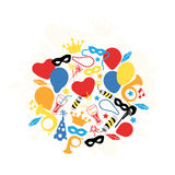 Carnival, Festival, Party, Birthday Decoration, Vector Royalty Free Stock Image