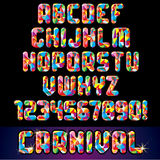Carnival Festive Alphabet Royalty Free Stock Image