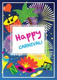 Carnival festive posters vector set.  Bright confetti fireworks, masquerade symbols, Festival abstract colorful backgrou. Carnival festive posters vector set Royalty Free Stock Images