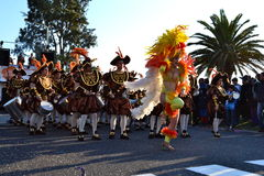 Carnival of Figueira da Foz conquerors. Carnival parade in Figueira da Foz, Portugal, 19 February 2012 Stock Photo