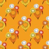 Carnival firework seamless pattern. Original design for print or digital media Stock Photo