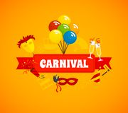 Carnival Flat Background Stock Images