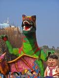 Carnival - Flinstones characters parade Stock Image