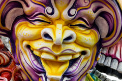 Carnival Float Decorations. ACIREALE ITALY - FEBRUARY 26 2017: Detail of Parade float During The Carnival of Acireale on the Sicily Italy Stock Photos