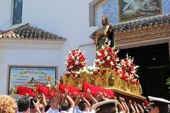 Carnival float, Marbella. Royalty Free Stock Photography