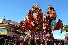 Carnival float, Viareggio. A carnival float at Viareggio Carnival (carnevale di Viareggio). Viareggio Carnival, celebrating in 2013 140 years of life and it is royalty free stock image