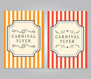 Carnival Flyer Template Royalty Free Stock Photos