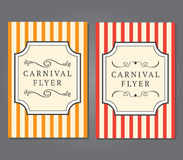 Carnival Flyer Template Stock Photos
