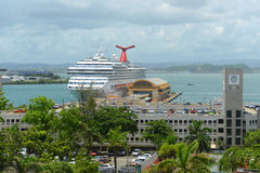 Carnival Freedom docked at San Juan. Puerto Rico Stock Photography