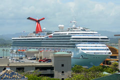 Carnival Freedom docked at San Juan Royalty Free Stock Photography