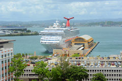 Carnival Freedom docked at San Juan. Puerto Rico Royalty Free Stock Images