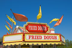 Carnival Fried dough Sign royalty free stock photography