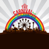 The carnival funfair and amusement Stock Image