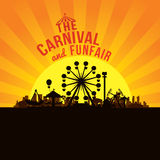 The carnival funfair and amusement Royalty Free Stock Image