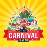 Carnival funfair design Royalty Free Stock Photos