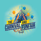 The carnival funfair and magic show Royalty Free Stock Images