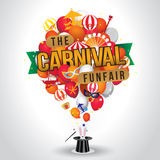 The carnival funfair and magic show Royalty Free Stock Image