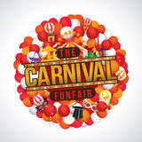 The carnival funfair and magic show Royalty Free Stock Photos