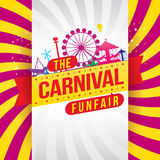 The carnival funfair and magic show Stock Photography