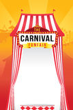 The carnival funfair and magic show Stock Images