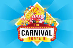 The carnival funfair and magic show vector illustration