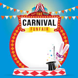 The carnival funfair and magic show Royalty Free Stock Photo