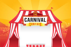 The carnival funfair and magic show Stock Image
