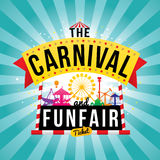 The carnival funfair. Vector illustration Royalty Free Stock Images