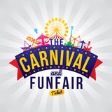 The carnival funfair. Vector illustration Stock Images