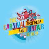 Carnival funfair. Vector illustration of colorful carnival funfair design Stock Photos