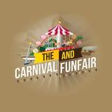Carnival funfair Stock Images