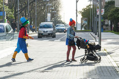 Carnival in Galicia (Spain) Stock Photos