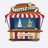 Carnival game. Milk Bottle Toss -  Royalty Free Stock Photo