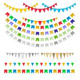 Carnival garlands with pennants stock illustration
